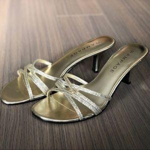 Rampage Gold Glitter Frankie Heels